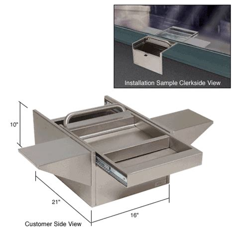 Transaction Drawer by Crl Brushed Stainless Transaction Drawer With Tray
