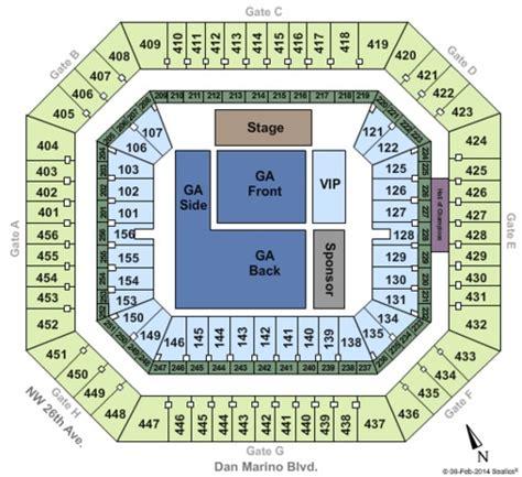 rock seating chart rock stadium tickets in miami gardens florida