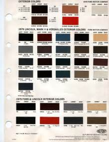 1979 ford mercury exterior colors and interior colors