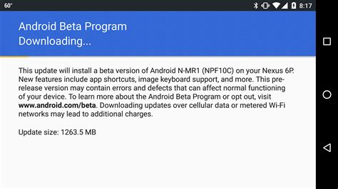 android beta program android nougat 7 1 beta is now out for select devices