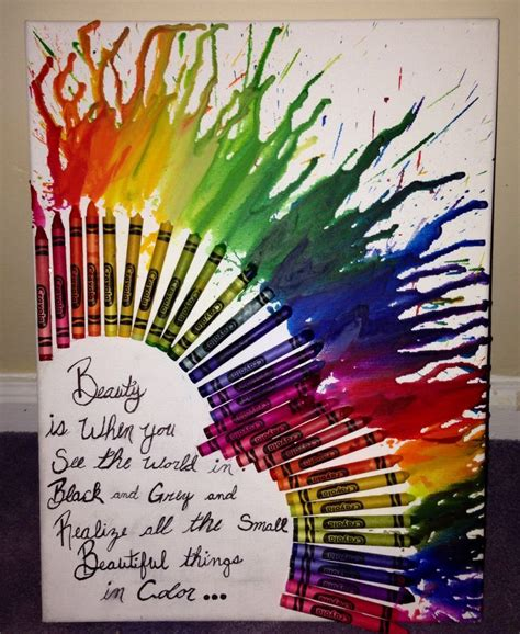 crayon sayings melting crayon with a quote crafts