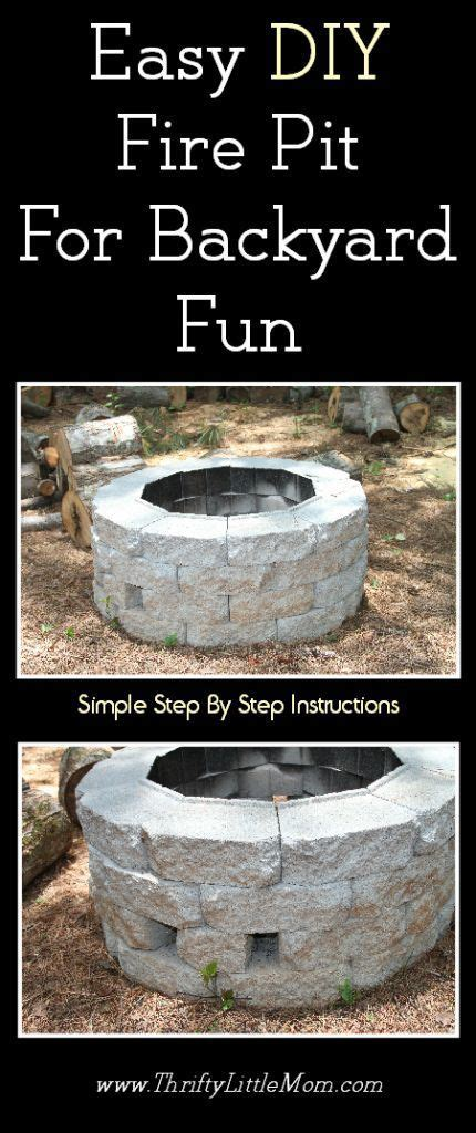 diy pit cheap and easy easy diy inexpensive firepit for backyard flare backyards and fall
