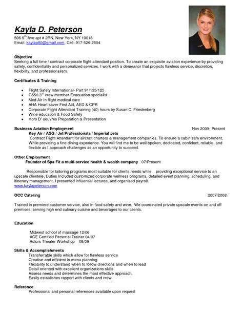 resume format for cabin crew flight attendant resume sles cabin crew objective