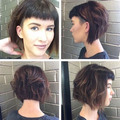 slanted fringe style best 25 short angled bobs ideas on pinterest short