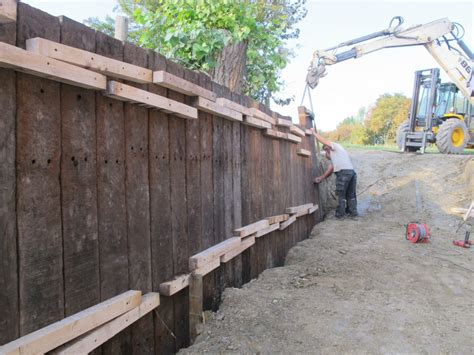 Sleeper Retaining Wall Systems by Retaining Wall With Azobe Railway Sleepers