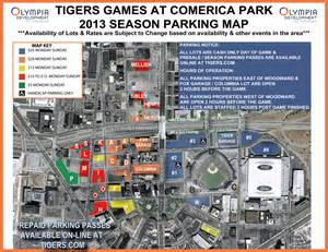 where to park at comerica park detroit tigers