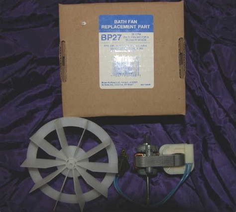 Nautilus Bathroom Fan Motor Replacement Broan Nutone Bp27 50 Cfm Bath Fan Motor Blower Wheel