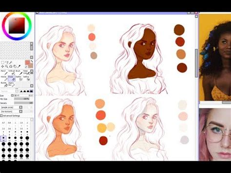 coloring tutorial skin coloring tutorial digital painting