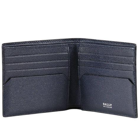 Bally Mans Wallet Bottom List lyst bally wallet in blue for