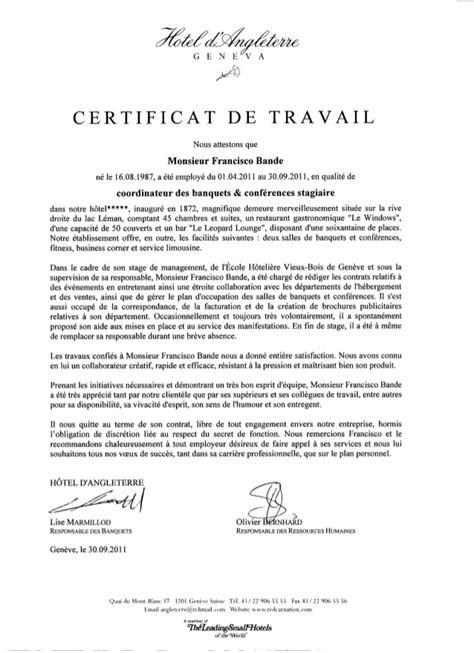 modele gratuit certificat de travail avec dif document