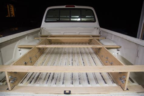 truck bed drawer system adventure truck retrofitted a toyota tacoma with a bed and drawer system for climbing