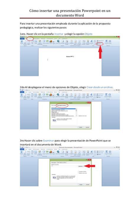 tutorial powerpoint open office tutorial insertar ppt en documento word