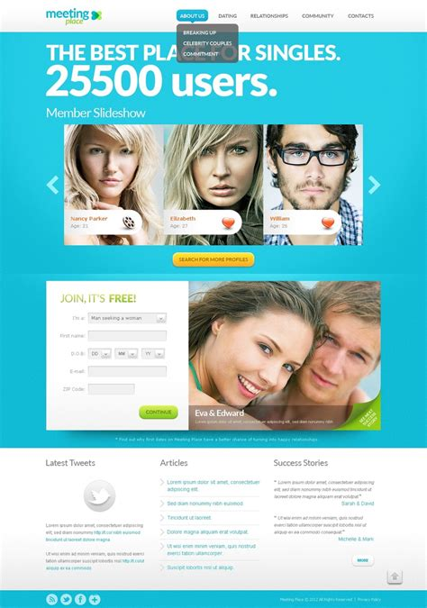 Dating Website Template 38435 Dating Website Template