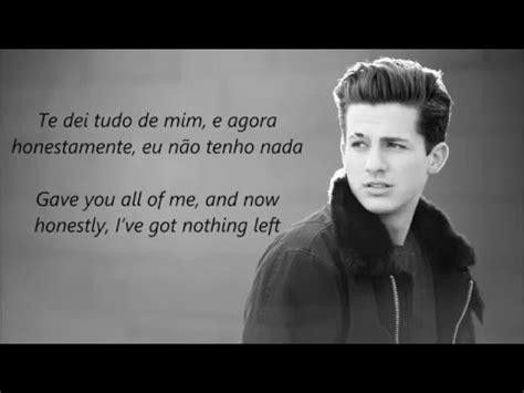 charlie puth dangerously lyrics charlie puth dangerously tradu 231 227 o lyrics youtube
