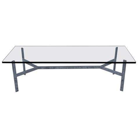 1970s steel base large coffee table for sale at 1stdibs