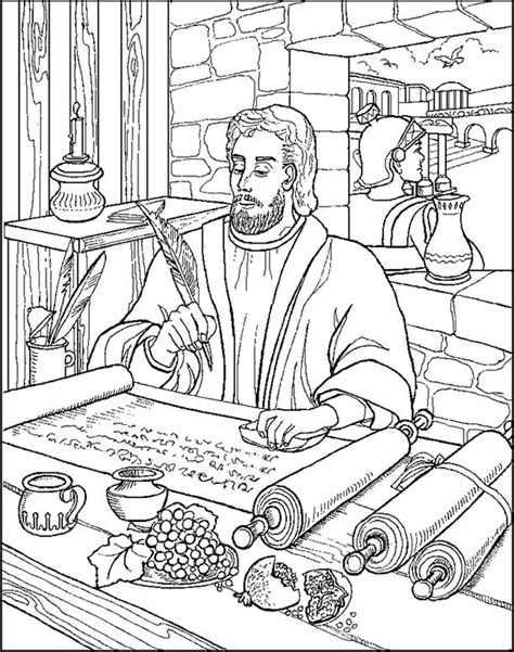 free coloring page paul in prison 374 best bible paul acts his letters images on pinterest