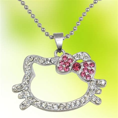 Hello Pink Necklace hello pink rhinestone necklace 3 95 free shipping my momma taught me