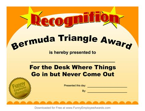 silly certificates awards templates 4 best images of printable certificates free
