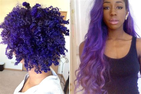 purplr hair on black women purple hair on african american dark skin black girls with