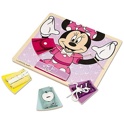 disney 174 minnie mouse wooden basic skills board bed bath
