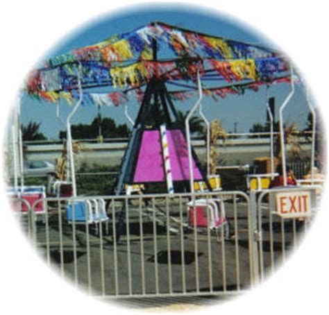 a swing ride at a carnival consists of chairs swing rides