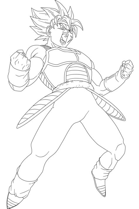 dragon ball z coloring pages bardock ssj bardock lineart by boscha196 on deviantart