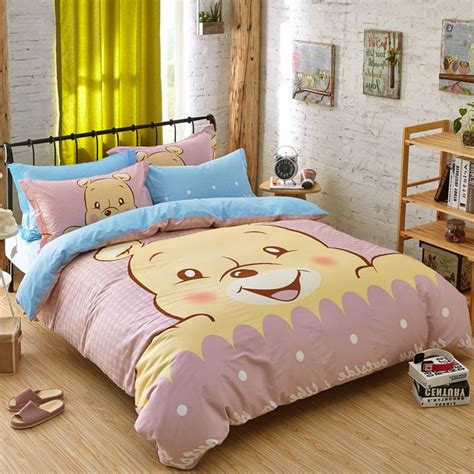 girls full size comforter set high quality bedding sets little bear bed sheet set duvet