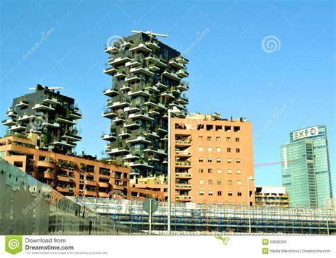 milan porta garibaldi station view to new bosco verticale residence near porta garibaldi