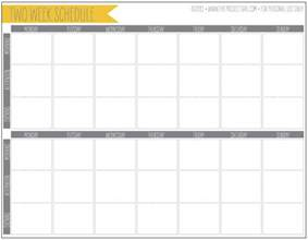 two week calendar template excel free 2 week schedule jenallyson the project