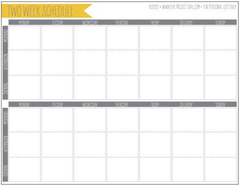 template printable weekly calendar template