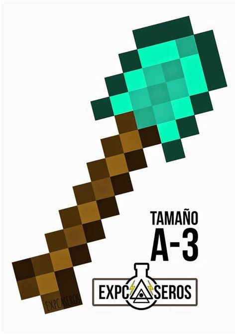 como hacer un pico con papel c 243 mo hacer el pico y la pala de diamante de minecraft