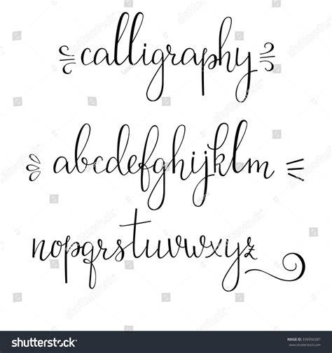 Wedding Font Openoffice by Handwritten Pointed Pen Ink Style Modern Stock Vector