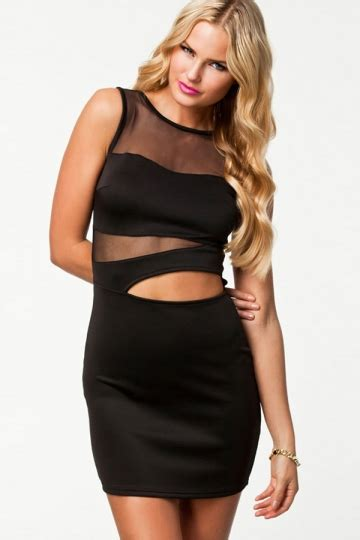 Dress Import 989 fashion summer cut out mesh bodycon dress pink