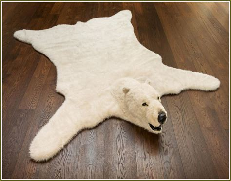 faux bear skin rug with head home design ideas
