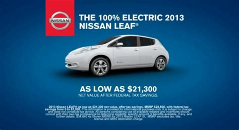 nissan leaf ad nissan to focus on money savings payback period in future