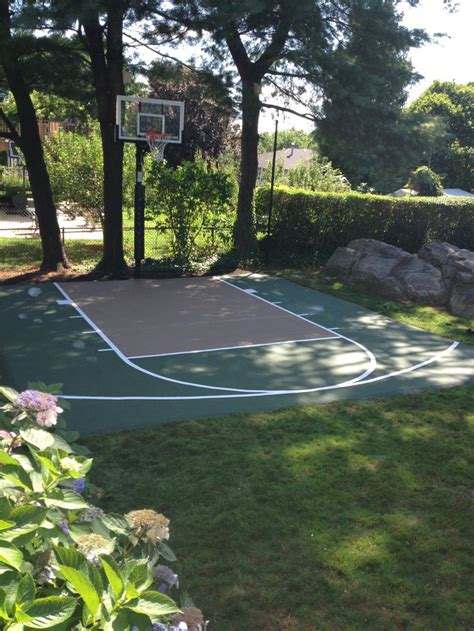 backyard basketball hoops best 25 backyard basketball court ideas on
