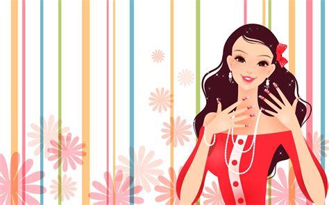 wallpaper vector girl fashion girl vector wallpaper