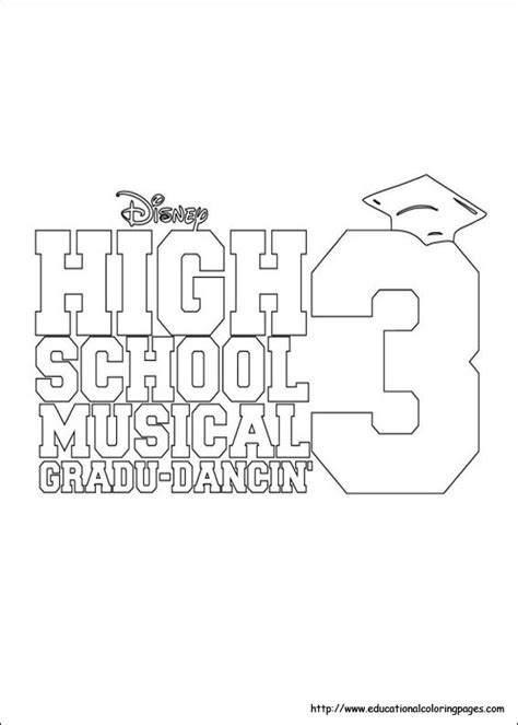 high school musical coloring pages printable coloring pages