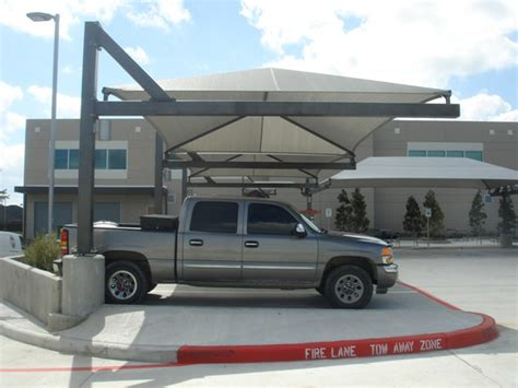 Houston Awnings Parking Shade Amp Parking Lot Shade Sails Shade Structures