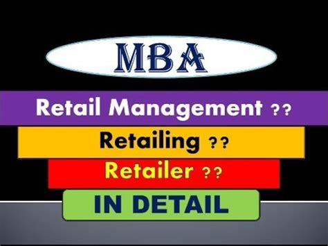 Retail Mba by What Is Retail Management Mba Course In
