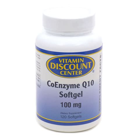 Vitamin Coenzyme Q10 Coenzyme Q10 100mg By Vitamin Discount Center 120