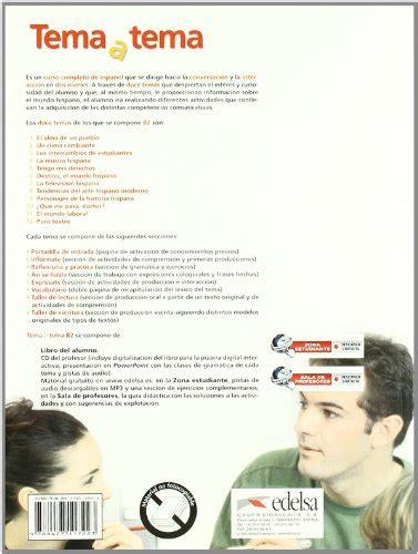 tema a tema 8477117225 libro tema a tema b2 curso de conversacion con espansione online per le scuole superiori di