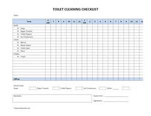 Hourly Checklist Template by Toilet Cleaning Checklist Freewordtemplates Net