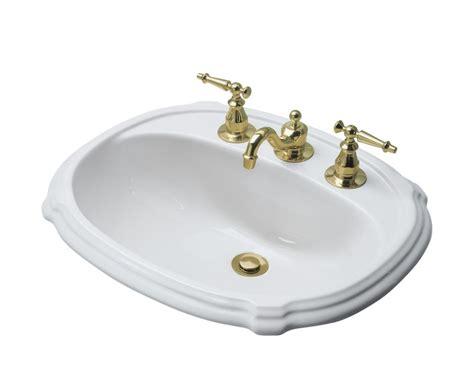 self rimming bathroom sinks kohler portrait self rimming bathroom sink in white the home depot canada