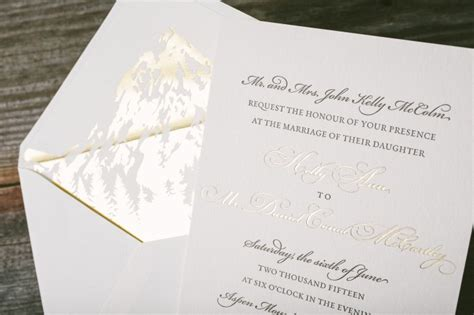 custom foil sted wedding invitations classic wedding invitations with gold foil envelope liners with diy kit for a set of lace
