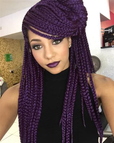 pictures of blue hair braided into brown hair top 20 all the rage looks with long box braids