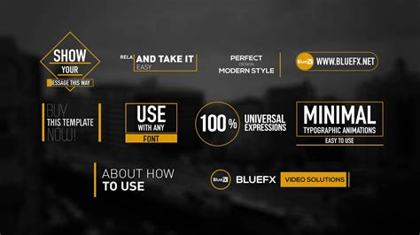how to use adobe after effects templates 50 modern titles and lower thirds by bluefx set lab