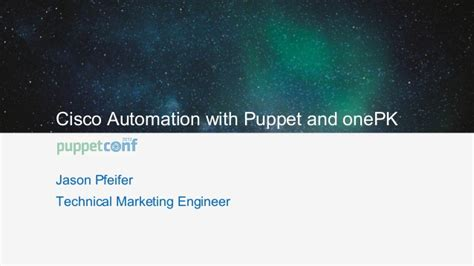 cisco automation with puppet and onepk