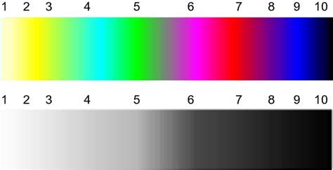 color scale for color scale used for measurement of color associations in