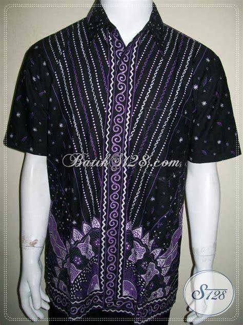 Jual Baju Pria Jual Baju Batik Modern Pria Batik Tulis Warna Ungu Hitam